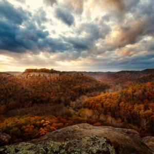 Red River Gorge photo - mountains, clouds, and sunset